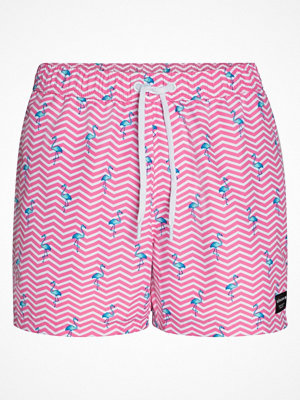 Badkläder - Björn Borg Sylvester Core Loose Swim Shorts  Pink