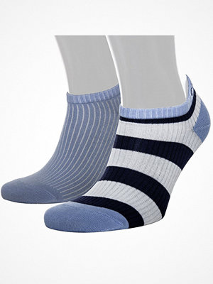 Strumpor - Calvin Klein 2-pack Olivia Bold Stripe Liner Socs Blue
