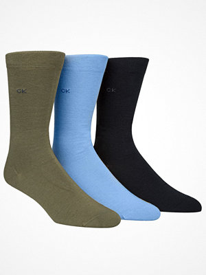 Calvin Klein 3-pack Eric Cotton Flat Knit Socks Blue/Green