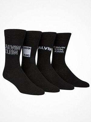 Calvin Klein 4-pack Elroy Logo Crew Socks Gift Box Black