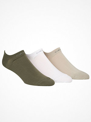 Calvin Klein 3-pack Owen Coolmax Cotton Liner Socks Green/White