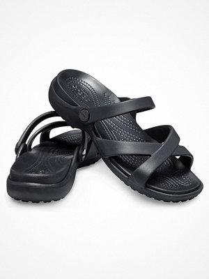 Tofflor - Crocs Meleen Cross-Band Sandal W Black