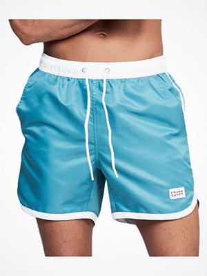 Frank Dandy Long Bermuda Swimshorts  Green/White