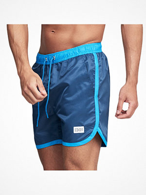 Frank Dandy Long Bermuda Swimshorts  Blue/Blue