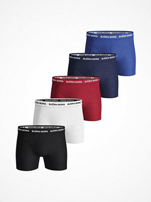 Björn Borg 5-pack Essential Shorts Solids Red/Blue