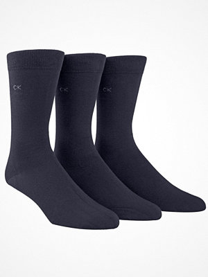 Calvin Klein 3-pack Eric Cotton Flat Knit Socks Navy-2
