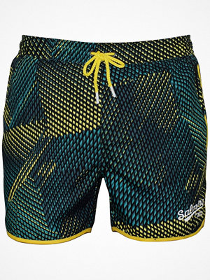 Badkläder - Salming Lake Original Swim Shorts Black/Green