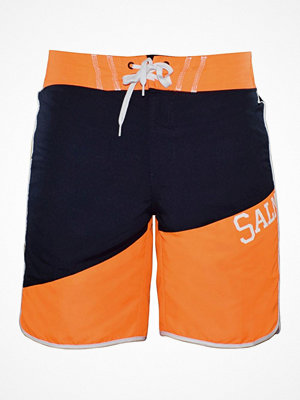 Badkläder - Salming Sunny Swim Shorts Black/Orange
