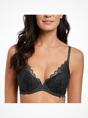 Wacoal Lace Perfection Plunge Push Up Bra Black