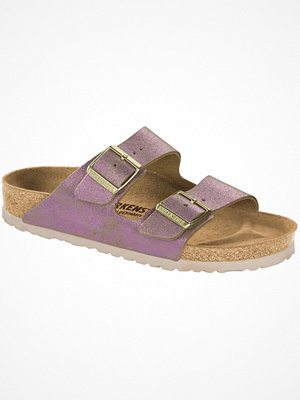 Tofflor - Birkenstock Arizona Leather Washed Metallic Pink