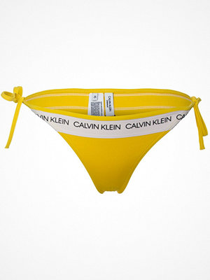 Calvin Klein CK Logo String Side Tie Bikini Yellow
