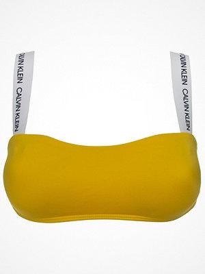 Calvin Klein CK Logo Bandeu Top Yellow