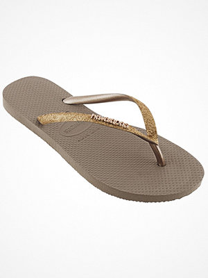 Tofflor - Havaianas Slim Glitter Gold