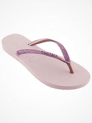 Tofflor - Havaianas Slim Glitter Pink