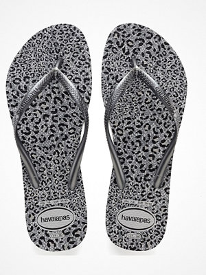 Tofflor - Havaianas Slim Animals Silvergrey