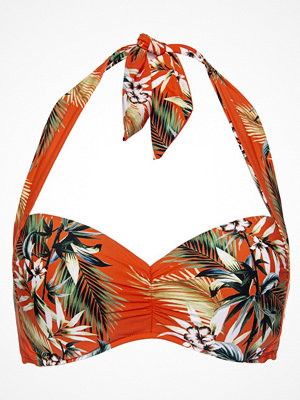 Seafolly Ocean Alley Soft Cup Halter Bikini Top Orange patterned