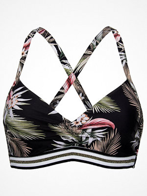 Seafolly Ocean Alley DD Cup Bralette Bikini Top Black pattern-2