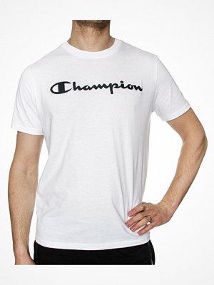 Champion Crewneck T-shirt Big Logo White