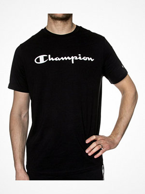 Champion Crewneck T-shirt Big Logo Black