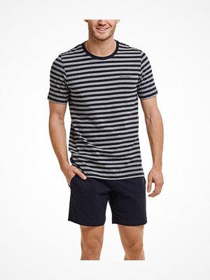 Pyjamas & myskläder - Marc O'Polo Marc O Polo Loungewear Pyjamas Short Sleeve Grey/Blue