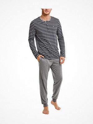 Pyjamas & myskläder - Marc O'Polo Marc O Polo Loungewear Pyjamas Henley Long Sleeve Grey