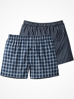 Marc O'Polo 2-pack Marc O Polo Woven Boxershorts Grey/Blue