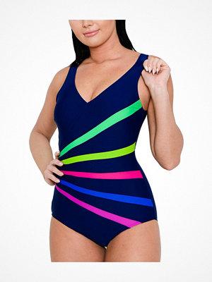 Saltabad Rainbow Swimsuit Navy-2