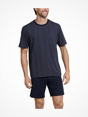 Schiesser Day and Night Short Pattern Pyjama Darkblue