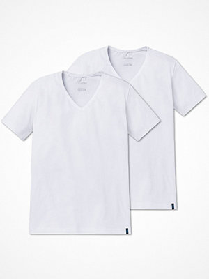Schiesser 2-pack 95-5 Shirt Short Sleeve Lower V-neck White