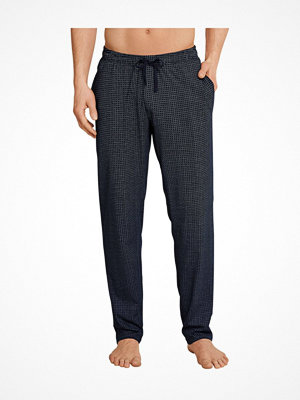 Schiesser Mix and Relax Jersey Lounge Pants Blue Pattern