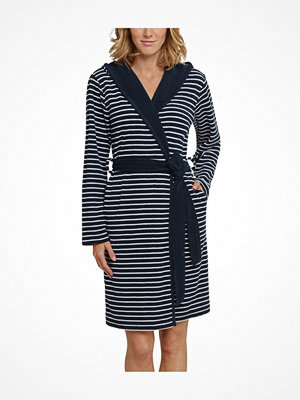 Morgonrockar - Schiesser Essentials Light Terry Cloth Bathrobe Darkblue