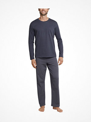 Schiesser Day and Night Long Pyjama Anthracite