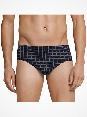 Kalsonger - Schiesser Day and Night Check Mini Brief 3XL Darkblue