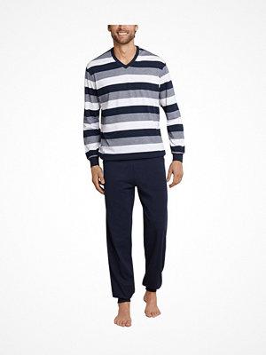 Schiesser Day and Night Long Pyjama With Cuffs Darkblue