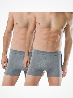 Schiesser 2-pack Essentials Cotton Boxer Briefs Anthracite