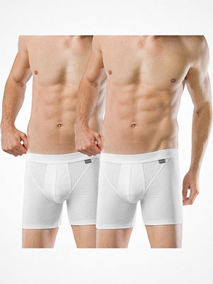 Kalsonger - Schiesser 2-pack Authentic Shorts With Fly White