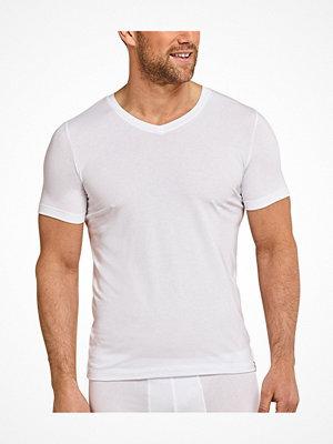 Schiesser Long Life Soft Shirt Short Sleeve V-neck White