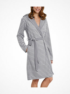 Schiesser Essentials Light Terry Cloth Bathrobe Grey