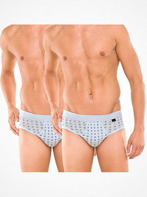 Kalsonger - Schiesser 2-pack Essentials Sport Briefs With Fly Lightblue