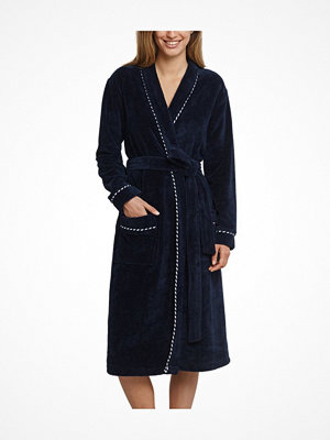 Morgonrockar - Schiesser Original Classics Bathrobe Darkblue
