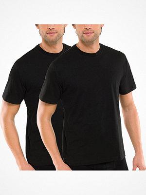 Schiesser 2-pack Essentials American T-shirts Round Neck Black