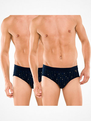 Kalsonger - Schiesser 2-pack Essentials Sport Briefs With Fly Navy-2