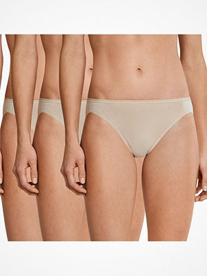 Schiesser 3-pack Essentials Cotton Rio Panties Beige