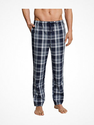 Schiesser Mix and Relax Woven Lounge Pants Blue Pattern