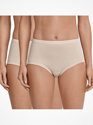 Schiesser 2-pack Original Classics Fine Rib Waist Panties Beige
