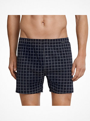 Kalsonger - Schiesser Day and Night Check Boxershorts Darkblue