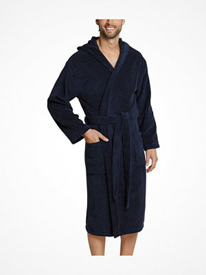 Morgonrockar - Schiesser Essentials Terry Cloth Bathrobe Navy-2