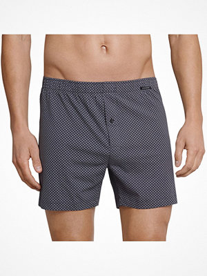 Kalsonger - Schiesser Day and Night Pattern Boxershorts Anthracite
