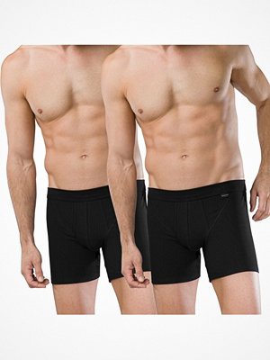 Schiesser 2-pack Authentic Shorts With Fly Black