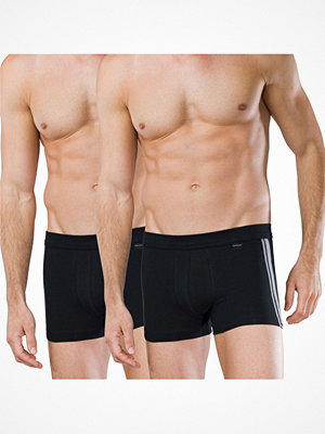 Schiesser 2-pack Essentials Cotton Boxer Briefs Black